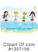 Royalty-Free (RF) At The Beach Clipart Illustration #1397106