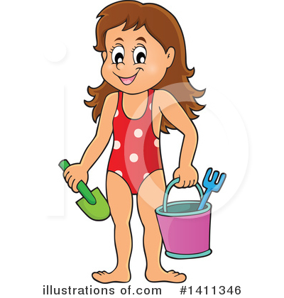 Girl Clipart #1411346 by visekart