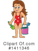 At The Beach Clipart #1411346 by visekart