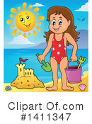 At The Beach Clipart #1411347 by visekart
