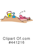 Royalty-Free (RF) At The Beach Clipart Illustration #441216
