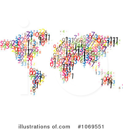 Numbers Clipart #1069551 by Andrei Marincas
