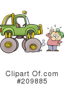 Royalty-Free (RF) automotive Clipart Illustration #209885