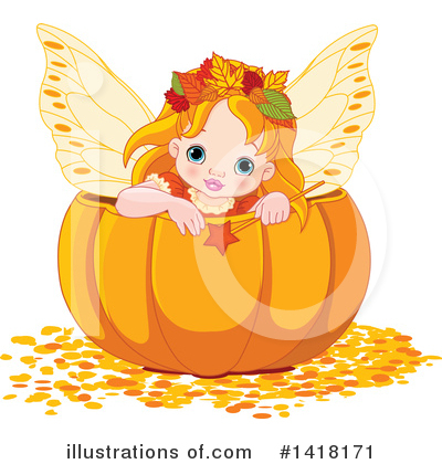 Royalty-Free (RF) Autumn Clipart Illustration by Pushkin - Stock Sample #1418171