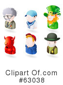Royalty-Free (RF) Avatar Clipart Illustration #63038