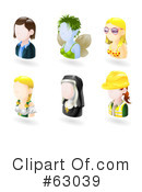 Royalty-Free (RF) Avatar Clipart Illustration #63039