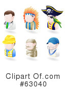 Royalty-Free (RF) Avatar Clipart Illustration #63040