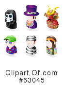 Royalty-Free (RF) Avatar Clipart Illustration #63045