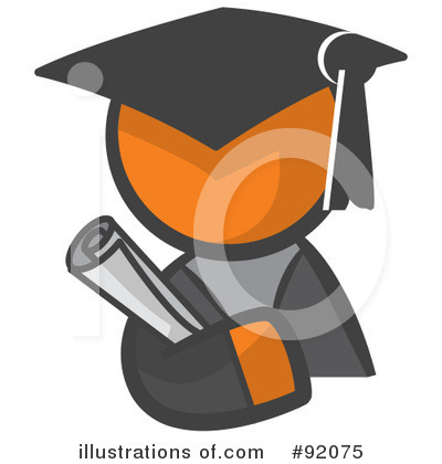 Graduation Clipart #92075 by Leo Blanchette