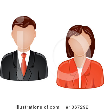 Businessman Clipart #1067292 by Vector Tradition SM