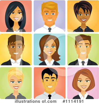 Royalty-Free (RF) Avatars Clipart Illustration by Amanda Kate - Stock Sample #1114191