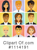 Royalty-Free (RF) Avatars Clipart Illustration #1114191