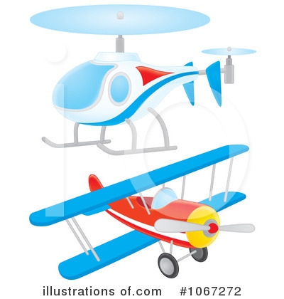 Airplane Clipart #1067272 by Alex Bannykh