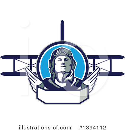 Royalty-Free (RF) Aviator Clipart Illustration by patrimonio - Stock Sample #1394112