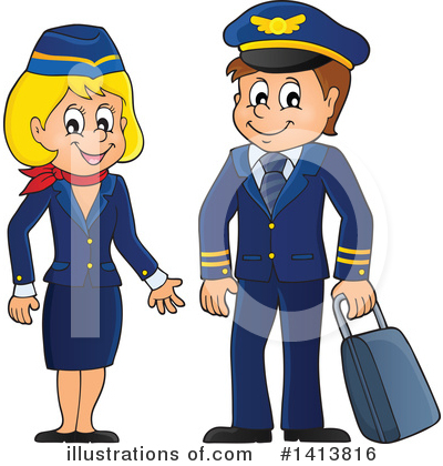 Stewardess Clipart #1413816 by visekart