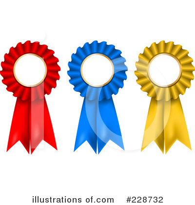 Royalty-Free (RF) Award Ribbon Clipart Illustration by KJ Pargeter - Stock Sample #228732
