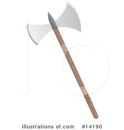Royalty-Free (RF) Axe Clipart Illustration by Rasmussen Images - Stock Sample #14190