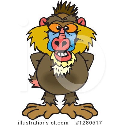 Monkey Clipart #1280517 by Dennis Holmes Designs