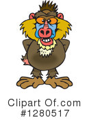 Royalty-Free (RF) Baboon Clipart Illustration #1280517