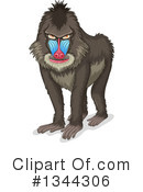 Royalty-Free (RF) Baboon Clipart Illustration #1344306