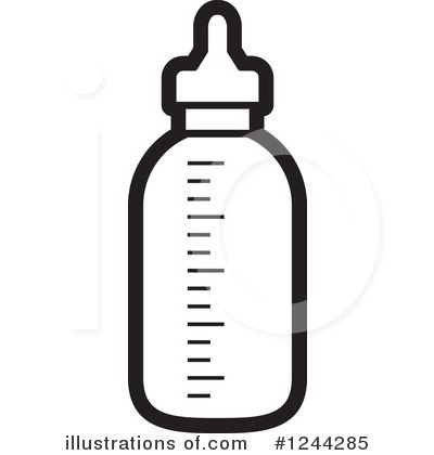 Baby Bottle Clipart #1244285 by Lal Perera