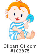 Royalty-Free (RF) baby Clipart Illustration #103875