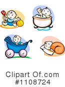 Baby Clipart #1108724 by Vector Tradition SM