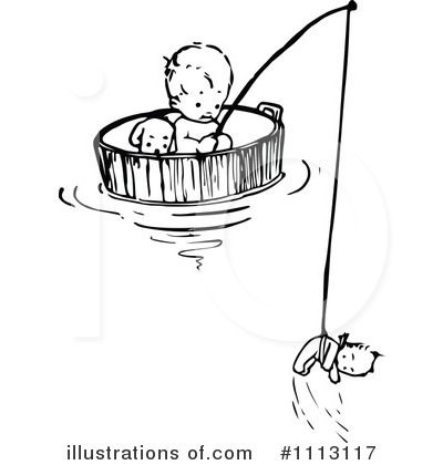 Fishing Clipart #1113117 by Prawny Vintage