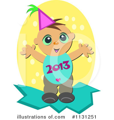 New Year Baby Clipart #1131251 by bpearth