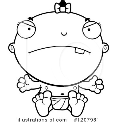 Black Baby Clipart #1207981 by Cory Thoman