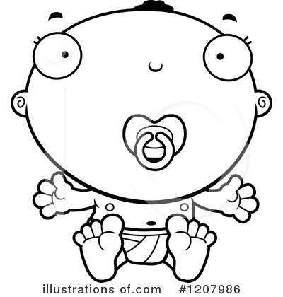 Black Baby Clipart #1207986 by Cory Thoman