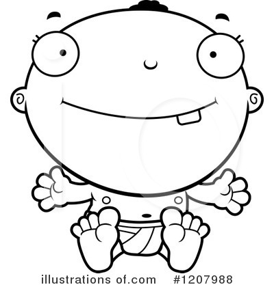 Royalty-Free (RF) Baby Clipart Illustration by Cory Thoman - Stock Sample #1207988