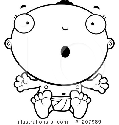 Black Baby Clipart #1207989 by Cory Thoman