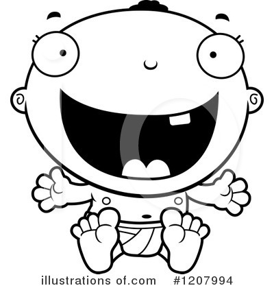 Black Baby Clipart #1207994 by Cory Thoman