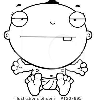 Black Baby Clipart #1207995 by Cory Thoman
