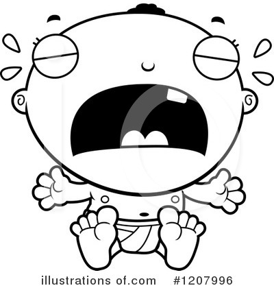 Black Baby Clipart #1207996 by Cory Thoman