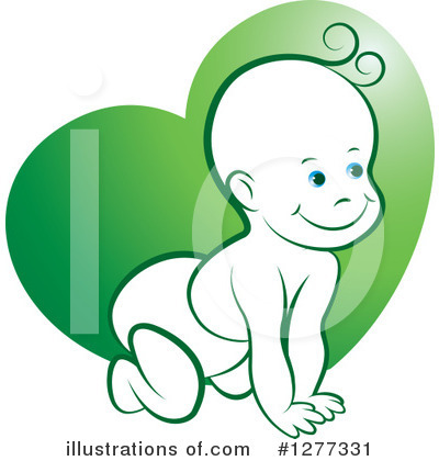 Baby Clipart #1277331 by Lal Perera