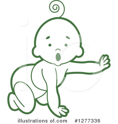 Baby Clipart #1277336 by Lal Perera