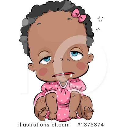 Baby Girl Clipart #1375374 by BNP Design Studio