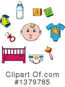 Baby Clipart #1379785 by Vector Tradition SM
