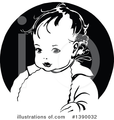 Baby Clipart #1390032 by Prawny Vintage