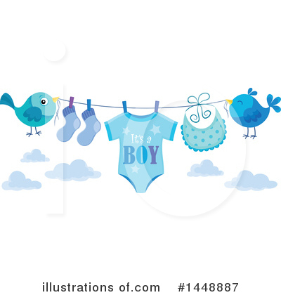 Baby Clipart #1448887 by visekart
