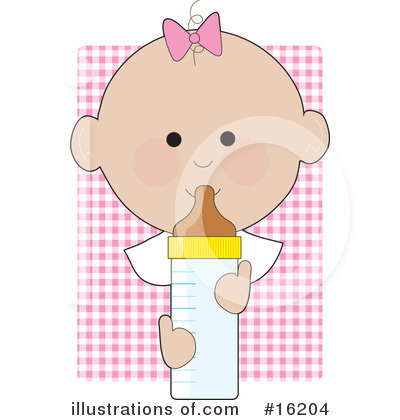Baby Bottle Clipart #16204 by Maria Bell