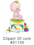 Royalty-Free (RF) Baby Clipart Illustration #31130