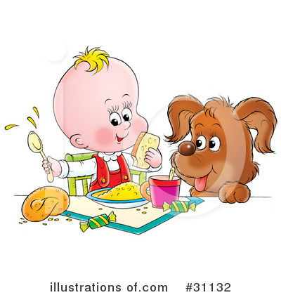Royalty-Free (RF) Baby Clipart Illustration by Alex Bannykh - Stock Sample #31132