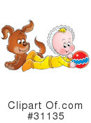 Baby Clipart #31135 by Alex Bannykh