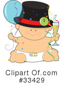 Royalty-Free (RF) Baby Clipart Illustration #33429