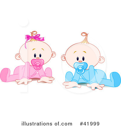 Royalty-Free (RF) Baby Clipart Illustration by Pushkin - Stock Sample #41999