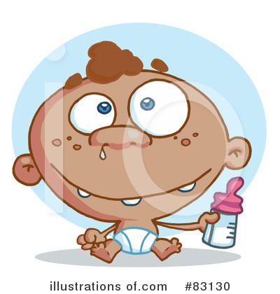 Baby Bottle Clipart #83130 by Hit Toon