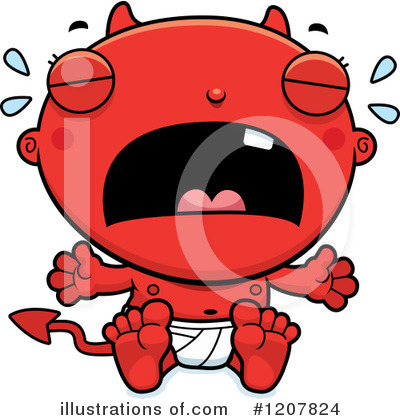 Devil Baby Clipart #1207824 by Cory Thoman